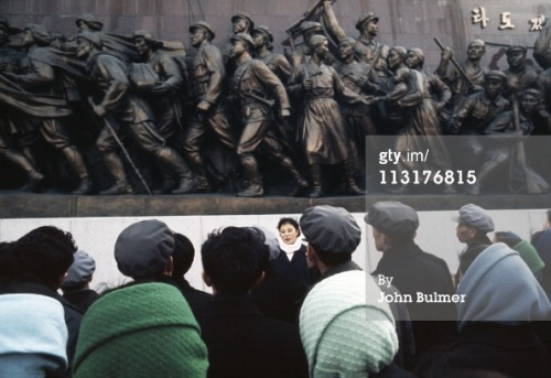 gettyimagesarchive:  North Korea 1973. By John Bulmer When freelance photographer John Bulmer gained access to North Korea in 1973 it was something of a coup. On assignment for the UK's leading-edge Sunday Times Magazine, Bulmer was one of the first foreign journalists to be given access to the country since the end of the Korean war in 1953. Working in colour, then still seen largely as the domain of the advertising world, Bulmer brought back pictures that gave a rare and fascinating glimpse inside a country that was little known about and less seen.  To see the full set go to: http://www.gettyimages.co.uk/Search/Search.aspx?EventId=142918417