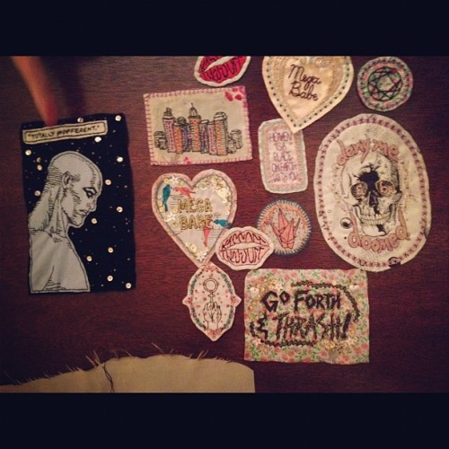 yourgirlchuck:   Patches by Kate sweaterbones.tumblr.com