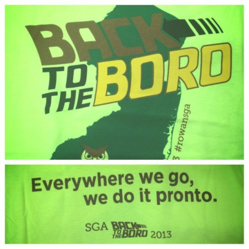 Free Back to the Boro shirt?! Yes please #backtotheboro #RowanSGA #picstitch #rowan #highlightergreen #perfectrunningshirt