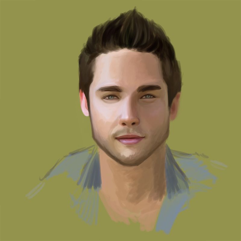 I was just kinda doodling and he kind of ended up looking like Dean Geyer and Matt Bomer. Ish.
