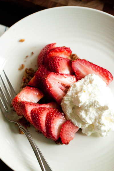 Strawberry Pecan Tart