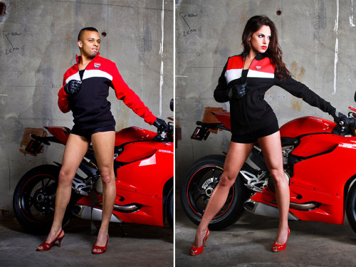 Men Replace Woman In Sizzling Ducati Motorcycle Posters