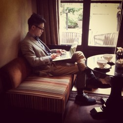 Mobile office #Paris (at Hôtel Pavillon de la Reine)