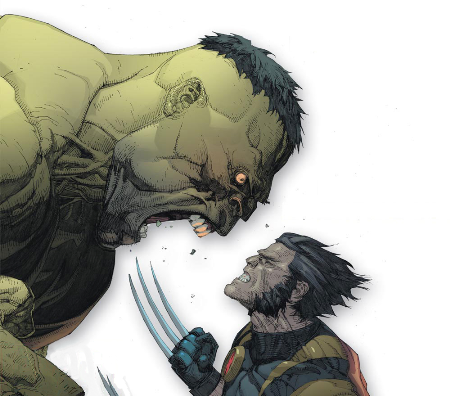 making-renders:  Ultimate Hulk vs Wolverine Leinil Francis Yu