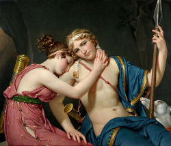 classic-art:  The Farewell of Telemachus and Eucharis Jacques-Louis David