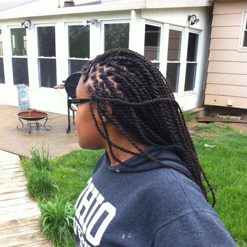 & another one @alyainxx #senegalesetwists #boxbraids #marleytwists