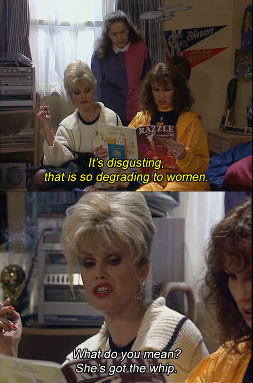 disgustinghuman:  Oh man what's this from? edit: it's from ab fab