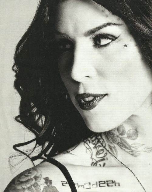 Kat Von D for Inked January 2013