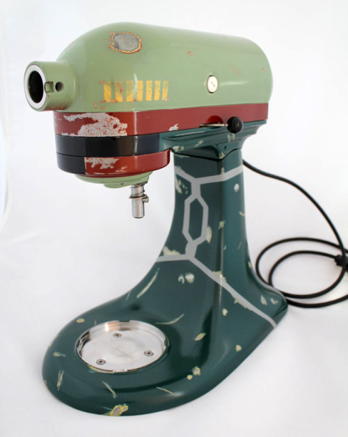 laughingsquid:  Custom Boba Fett KitchenAid Mixer
