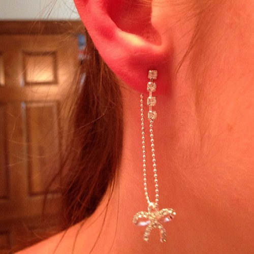 Dangly #bow #earrings #obsessed