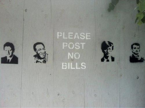 "visual-poetry:  ""please post no bills"" (found here)"