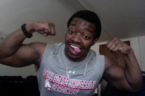 straight flexin in my Ball State gear. lol