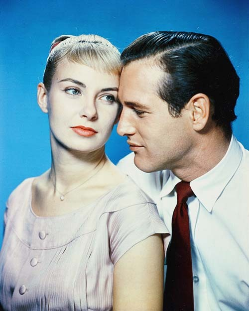 Joanne Woodward and Paul Newman in a studio portrait for 'The Long Hot Summer', 1958