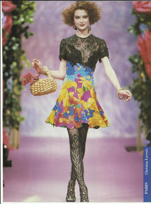 supermodelshrine:  Shalom for Christian Laroix, s/s 1994