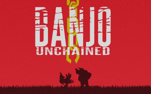 copiouslygeeky:  Banjo Unchained  Created by MJM247