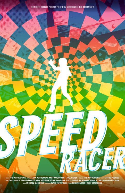 bigredrobot:  Speed Racer Has A Posse. Poster designed by Dylan Todd / Big Red Robot.