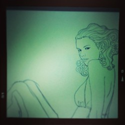 #Green mood for a future #cyborg #wip #illustration #wacom #cintiq #photoshop (à Narbonne)