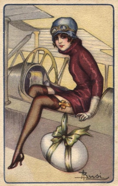 Aerial Delivery !  Darling Postcard by Adolfo Busi