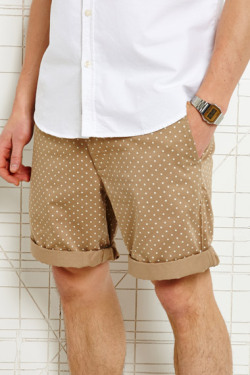 thedapperproject:  Shore Leave Tan Polka Dot Shorts | Urban Outfitters