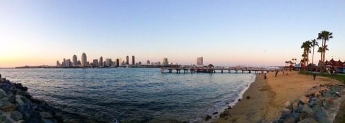 cont0ur:  Panorama of the San Diego Skyline as seen from Coronado Island.