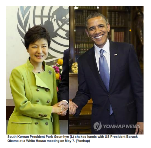 theatlantic:  Obama 'Handshake' Proves South Korea Is Worse at Photoshop Than the North [Image: Yonhap]  What.