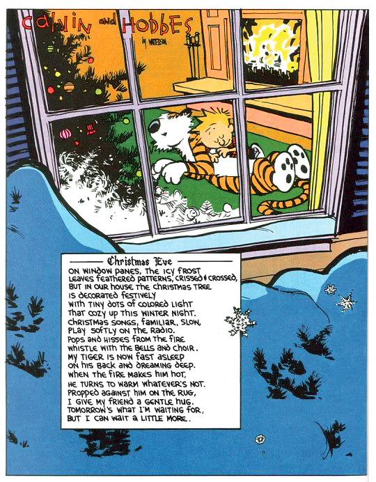 Christmas with Calvin & Hobbes.