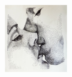 sighcry-five:  witherd:  alanawilliams:  The Kiss, 2013  one of my faves that you've done lana!  aww thank you lovelyyy! My mum stuck it on the fridge :P
