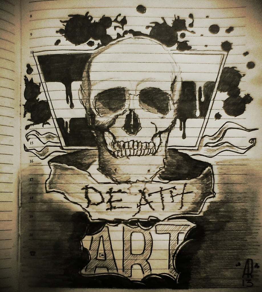 Poisoned. Death art.