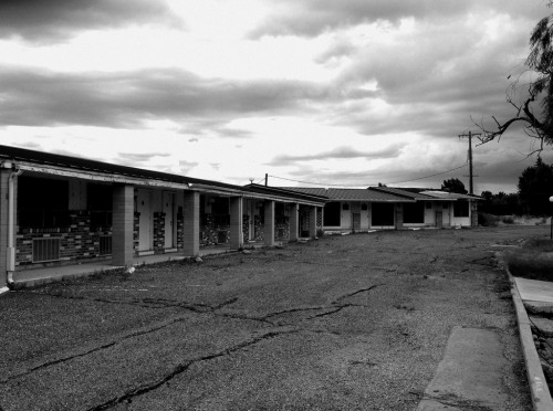 Abandoned motel. (Photo I took in Beaver, Utah.)