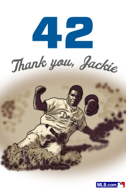 mlb:  Every Reblog this gets = a Thank You to Jackie. #Jackie42
