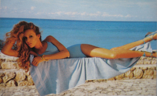 Vogue May 1975 by Sew Something Vintage on Flickr.Via Flickr: Jerry Hall by Norman Parkinson