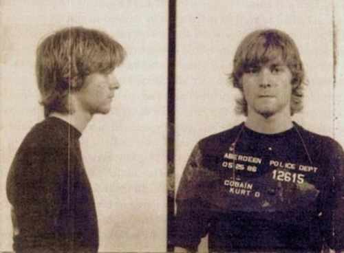 "When Kurt Cobain was 19, he was arrested for spray painting ""God is gay."""