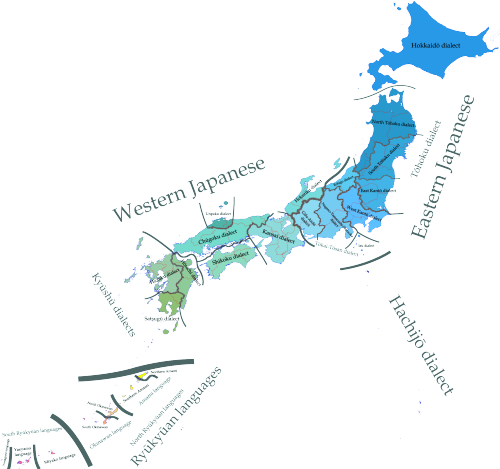 mapsontheweb:  Japanese dialects