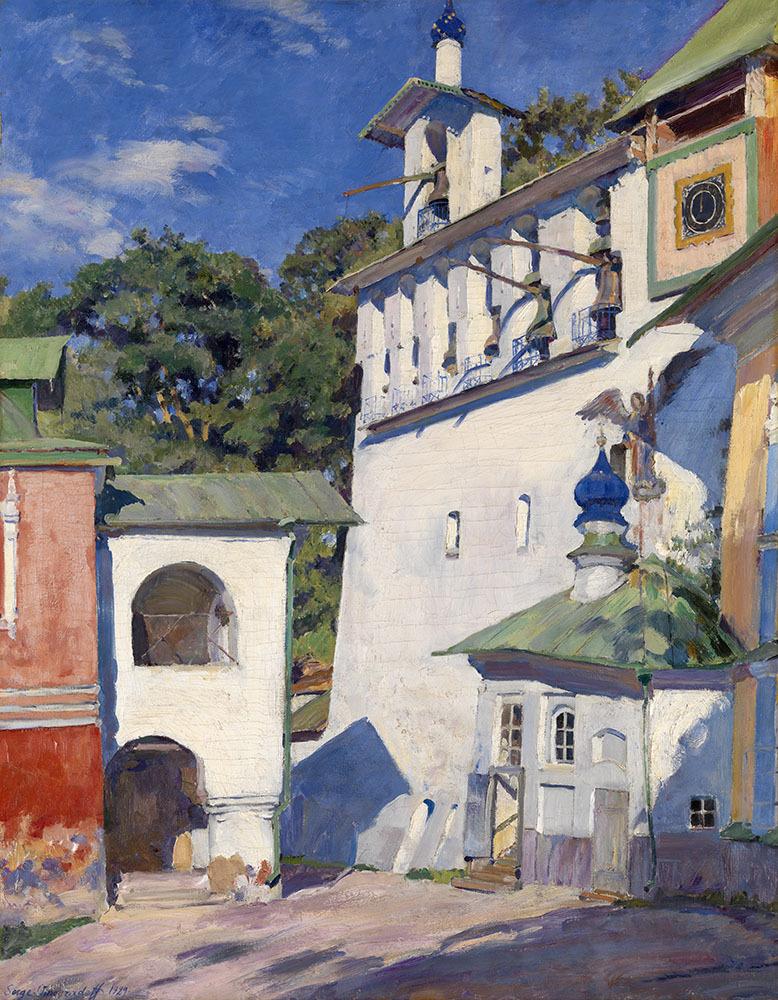 lawrenceleemagnuson:  Sergei Vinogradov (Russia 1869–1938)Pechersky Cloister. Big Belfry (1929)oil on canvas 91 x 71cm