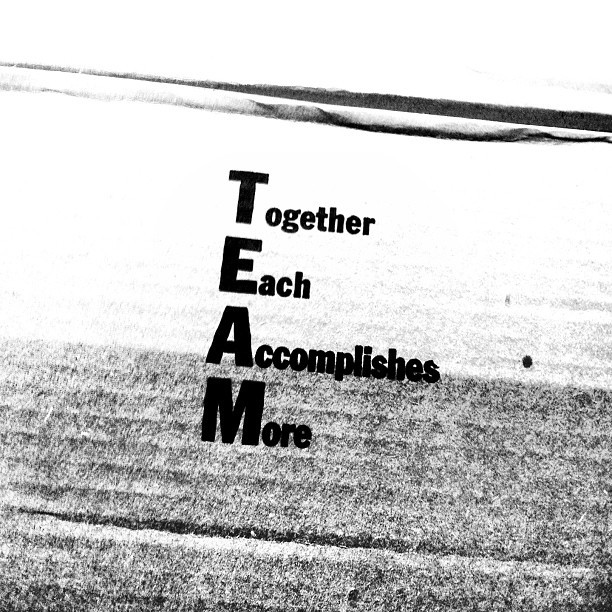 """Achieving something that is only possible through teamwork."" #collaboration #teamwork #blackandwhite #blackandwhiteonly #blackandwhiteoftheday #blackandwhitephotography#grayscale #monochrome #cardboard #typography #motivation #inspiration"