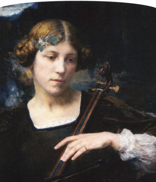 Jeune Musicienne,Edgard Maxence