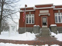 Historical Carnegie Library in Freeport Maine