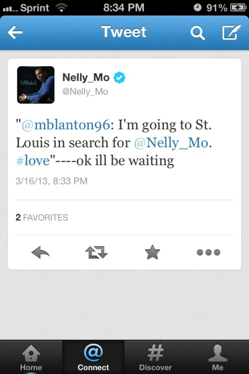 Nelly quoted my tweet to him and replied! Omg. 💜❤💚💙💛