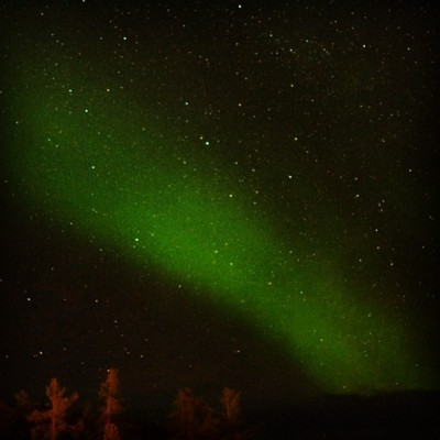 My first glimpse of northern light (Saariselkä)