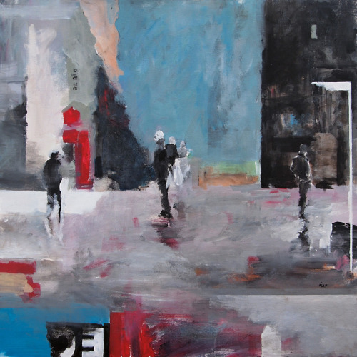 darksilenceinsuburbia:  Geza Ricz. Waiting II. Acrylic on canvas.