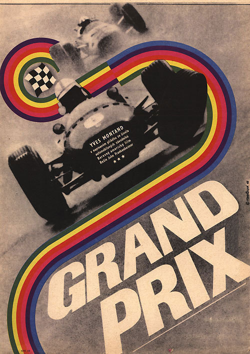 movieposteroftheday:  1968 Czech poster for GRAND PRIX (John Frankenheimer, USA, 1966) Artist: Eva Galová-Vodrážková (b. 1940) Poster source: Terry Posters See more of the wild and crazy posters of Galová-Vodrážková on today's Movie Poster of the Week at mubi.com.