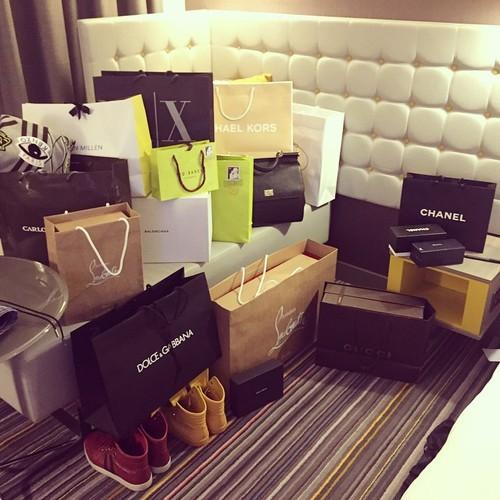 Shopping spree bags tumblr