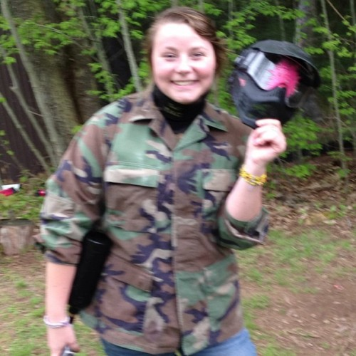 I guess I'm a lot sharper than I thought… #headshots #paintball  (at Adrenallne Zone Paintball)