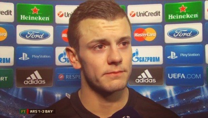 t-vermaelen05:  come-on-arsenal:  Jack Wilshere almost in tears  this is making me want to cry.