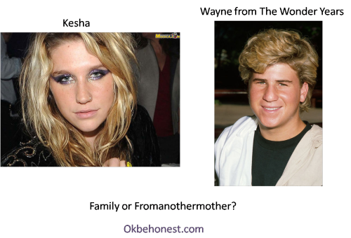 Kesha and Wayne from The Wonder Years: Family or Fromanothermother?