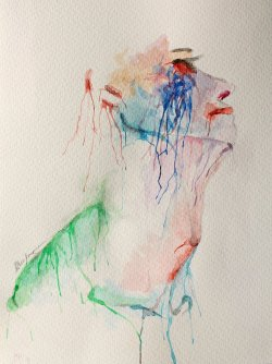 the crying man - watercolor - first version by ~LucaHennig