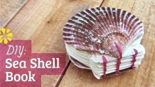 DIY Sea Shell Watercolor Book: Coptic Stitch (Video Tutorial) by SeaLemonDIY