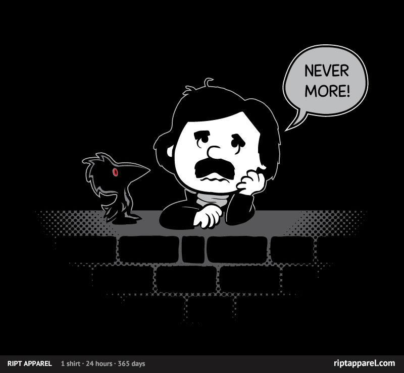 ratigandesigns:  Today Only! get this Charlie Brown inspired Edgar Allan Poe shirt at Riptapparel Follow on FB: https://www.facebook.com/RatiganDesigns