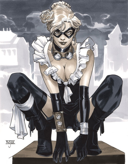 Steampunk Black Cat - London Super Comic Con 2013 Pre-Show Commission.