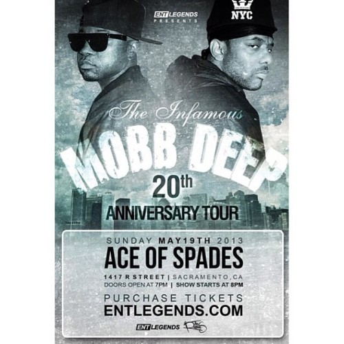 TONIGHT TONIGHT TONIGHT! come turn up with the legends themselves Mobb Deep! tickets are 2 for $20 at Getta Clue